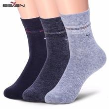 Seven7 Marca Moda Hombre Calcetines de Algodón de Alta Calidad Calcetines de Vestir Patrón Calcetines Respirables Cómodos 109G40270 Tradición China