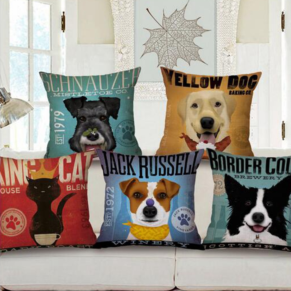 French Bulldog Cushion cartoon dog pillow decorative throw pillows hemorrhoid seat coussin ...
