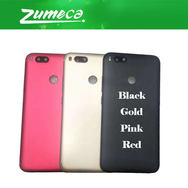 AAA+ Quality For <font><b>Xiaomi</b></font> A1 Mi A1 <font><b>MiA1</b></font> Mi 5X Mi5X <font><b>Xiaomi</b></font> 5X <font><b>Battery</b></font> Cover Housing Case Door Rear Glass Black Pink Gold Red Color image