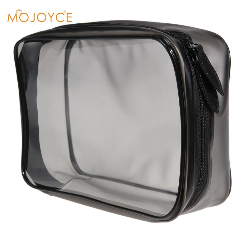 Environmental Protection PVC Transparent Solid Bag Women Travel Make up Toiletry Bags Makeup Organizer Case Make Up Bag Blosos custom transparent clear pvc make up tote bag with double handles