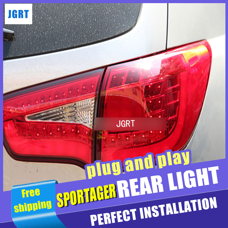Car Styling for Kia SportageR Taillights 2011-2014 Sportage R LED Tail Light LED Rear Lamp DRL+Brake+Park+Signal for kia sportage r led tail lamp