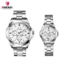 CHENXI роскошные любитель смотреть пара Водонепроницаемый часы мужские часы женские Пары Любители часы набор Наручные Часы Relogio Feminino 45