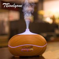 TBonlyone 300ML Wood Grain Ultrasonic Aromatherapy Air Humidifier Essential Oil Aroma Lamp Electric Aroma Diffuser For