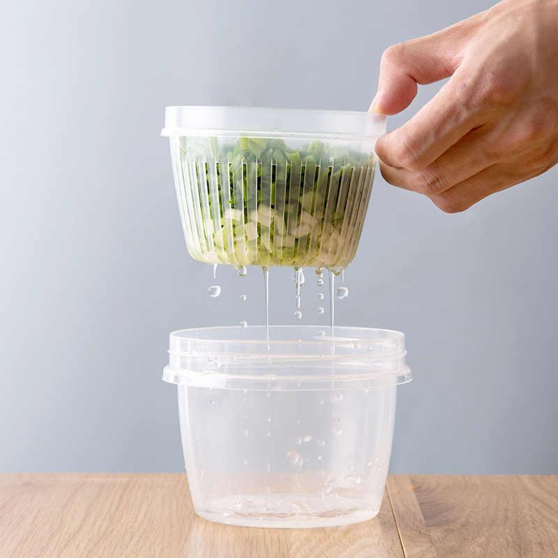 Sáng tạo Vòng thoát hộp kín cho Gừng tỏi hành tủ lạnh thực phẩm sắc nét mảnh vỡ Tủ Lạnh Khay Hộp nhà bếp nhà tổ chức