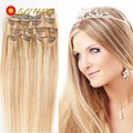 """2016 Fashion New MULTI-COLORS Long 24"""" Straight 60CM 100% Real Thick 120g Full Head Clip in on Hair Extensions"""