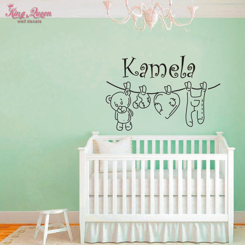 Aliexpress Buy Teddy Bear And Personalized Name Vinyl Wall