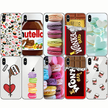 Tumblr Nutella Makalon Chocolate Food Sushi Soft Silicone Phone Cover Cases for IPhone SE X 7 8 Plus 5 5S 6 6S