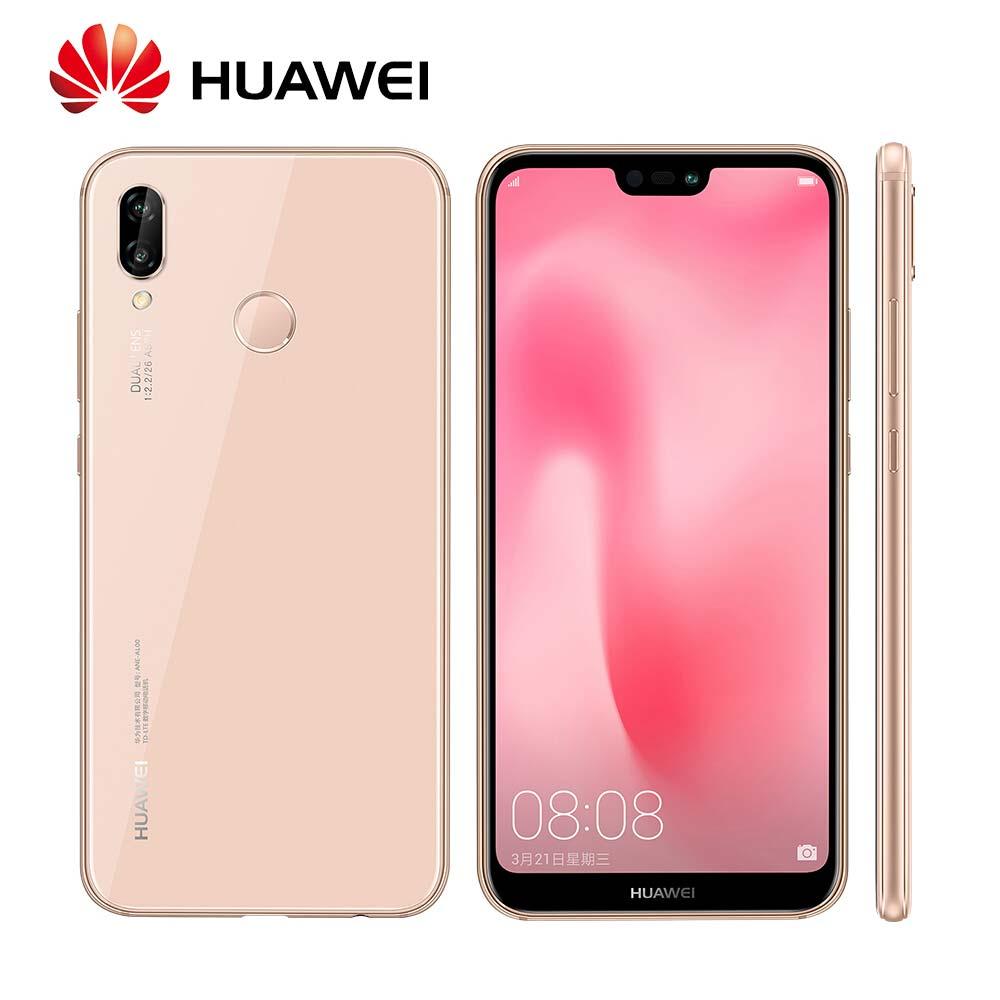 Mondial Rom Huawei P20 Lite Nova 3e 4/128 gb Visage ID D'empreintes Digitales Vue Plein Écran 24MP Avant caméra 4g LTE Mobile Téléphone