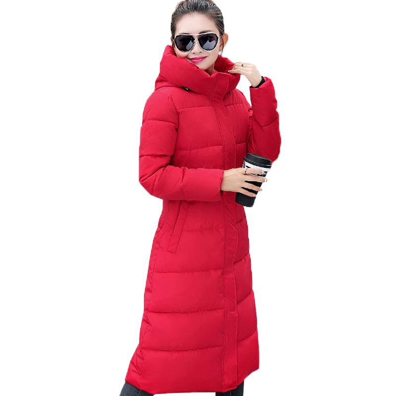 Fashion Winter Jacket Women 2018 Thick Warm Female Jacket Cotton Coat Parkas Long jaqueta feminina inverno