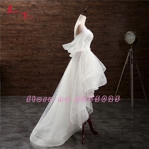 Image 3 - Jark Tozr Custom Made mały biały sukienki Vestido De Casamento aplikacje wysoki niski suknia ślubna chiny sklep internetowy Trouwjurk