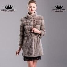 The new 2017 fur Fur mink fur coat dress whole mink coat Woman's real natural fur coat fashion Waist