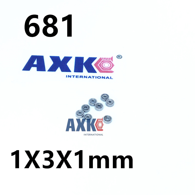 50pcs 681 Miniature ball Bearings mini open bearing 1x3x1 1*3*1 mm 681 ABEC-1 1pcs 71901 71901cd p4 7901 12x24x6 mochu thin walled miniature angular contact bearings speed spindle bearings cnc abec 7