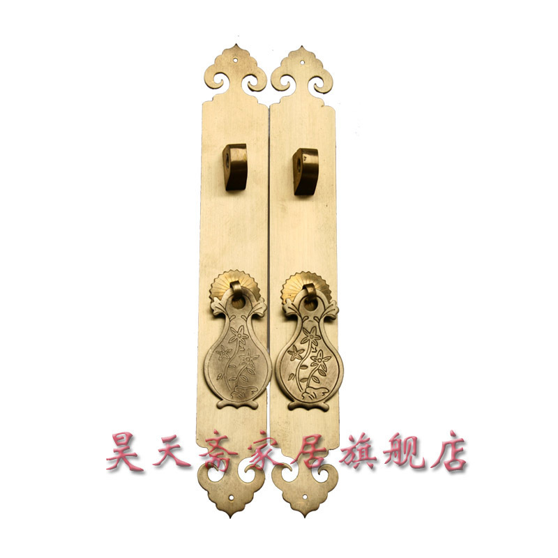 [Haotian vegetarian] antique copper straight handle / antique furniture copper fittings / copper handicrafts HTC-041 [haotian vegetarian] chinese classical furniture antique classic antique copper fittings copper wishful handle htc 269