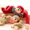Candice guo! la más nueva llegada linda armas largas mono amor raya T-shirt papá mono regalo de cumpleaños creativo 1 unid