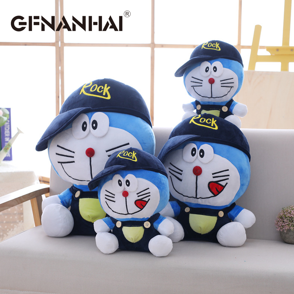 US $10 73 OFF 1 pc 30 cm kartun Berdiri Oleh Saya Doraemon mainan mewah boneka lembut lucu bayi finger mainan boneka Kucing Anak ulang tahun hadiah