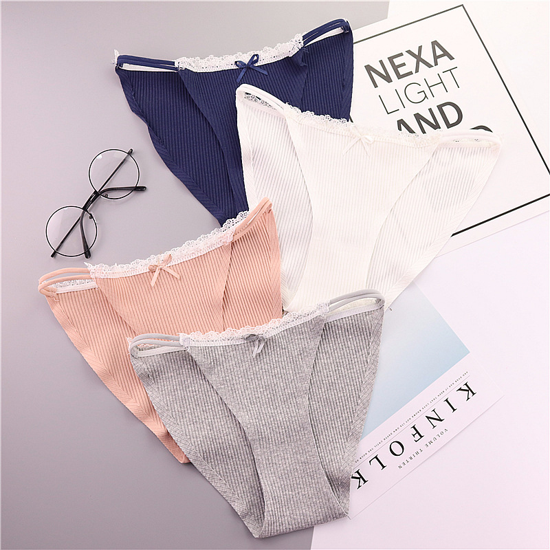 HUI GUAN Japan Style Sweet Bow Seamless Briefs Soft Cute Women Underwear Cotton Panties Sexy Lingerie Ladies Lingerie Underpant