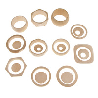 1 Set Natural Unfinished Assorted 11pcs Wood Cuff Bangle Geometric 8pcs Earrings Dangle DIY Craft Project Findings Kids Toy
