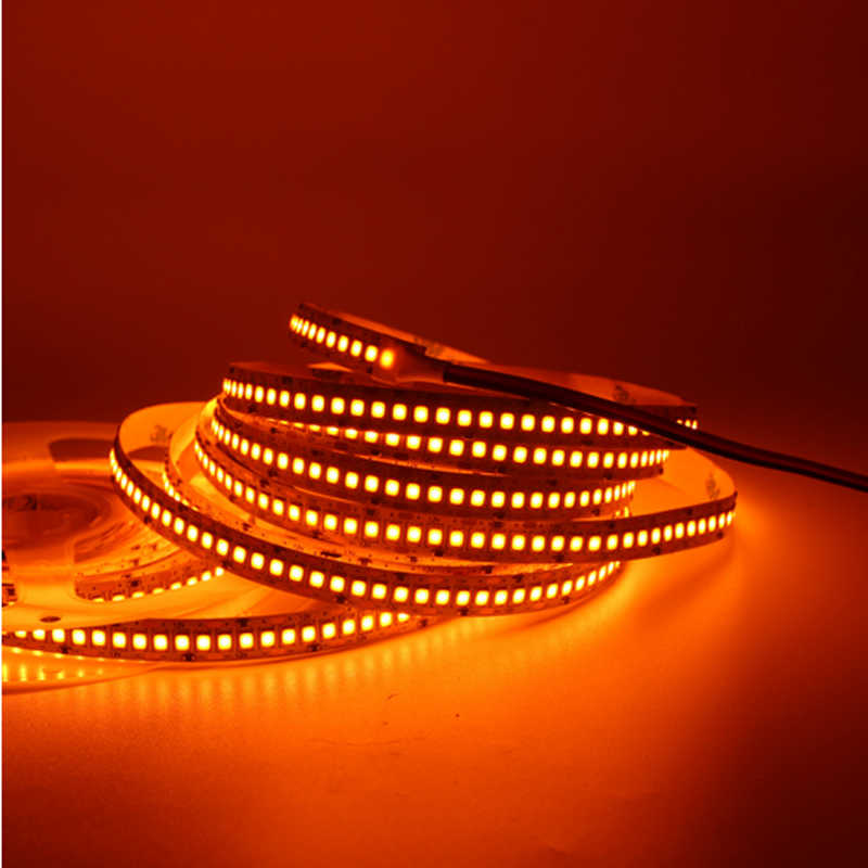 5 M LED Lampu Strip 2835 SMD 240LED/M 12V IP20/IP65 Tahan Air 234LED/M Fleksibel lampu LED Putih RGB Garis Oranye Tali
