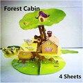 Comprar 2 get1 Casa Modelo de Papel Del Rompecabezas 3d Rompecabezas para Adultos de Los Niños Rompecabezas Puzzle Niños Educación Juegos Desafío regalo