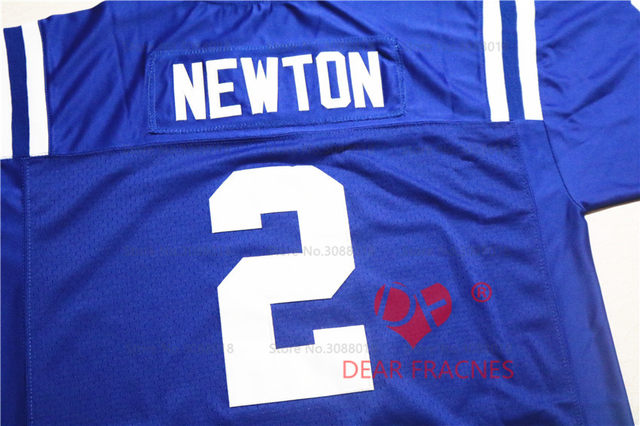brand new c685e 7dcc6 Cheap Shirt for Mens American Football Jerseys Cam Newton #2 Westlake High  School Throwback Jerseys Retro Blue Stitched