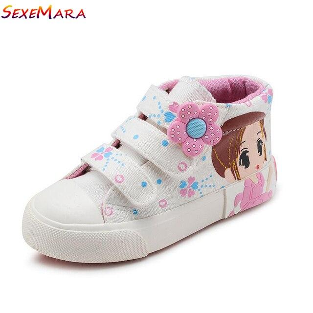 Sneakers Bébé Toile Fleurs Shoes Filles Rose HwRpFqFd