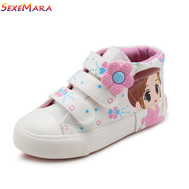 Girls Sneakers Canvas Shoes Flowers Girls Pink Shoes Baby Shoes