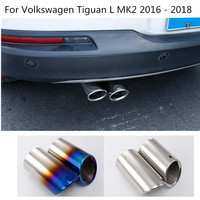 Car Outlet Cover Muffler Exterior End Pipe Dedicate Exhaust Tip Tail 2pcs For Volkswagen VW Tiguan