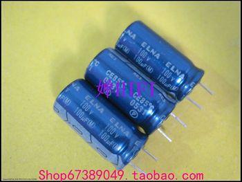 2020 hot sale 20PCS/50PCS ELNA original RE3 blue robe electrolytic capacitor 100uf100v 10x20 free shipping 2020 hot sale 20pcs 50pcs electrolytic capacitor nichicon original vz electrolytic capacitor 63v220uf 10x16 free shipping