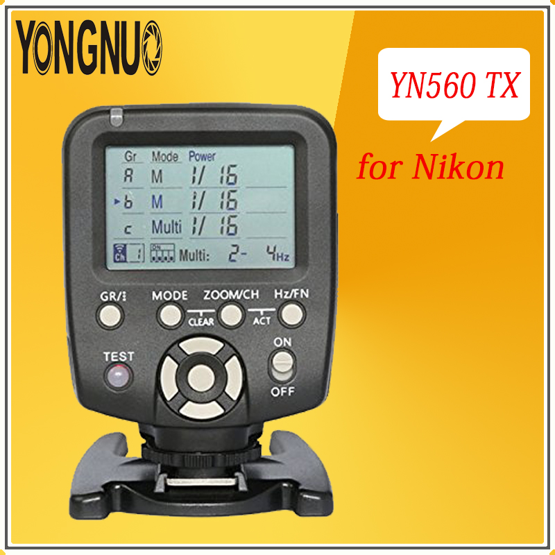 YONGNUO YN560-TX LCD Wireless Manual Flash Trigger Remote Controller for Nikon YN-560III YN560 IV RF602 RF603 RF603II YN560TX цены