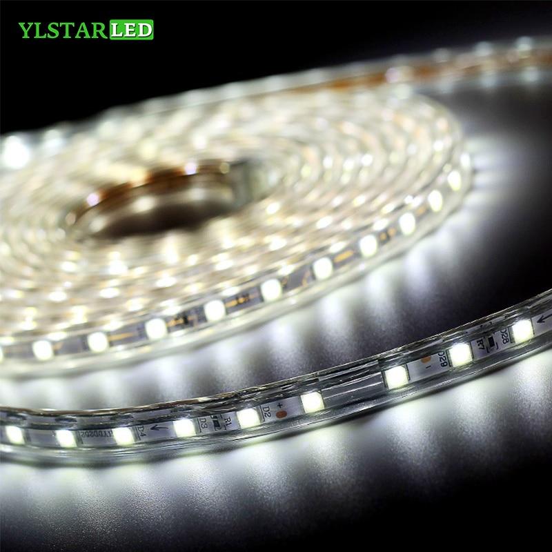 YLSTAR SMD2835 AC110V/220V LED Rope Strip Light Flexible Light 60/120/180Leds/m Waterproof IP67 Led Tape LED Light
