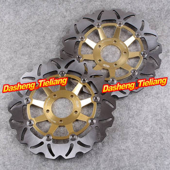 Front Brake Disc Rotors For SUZUKI GSXR 750 / 1100 / LIMITED EDITION 750 Gold, Motorcycle Spare Parts & Accessories image