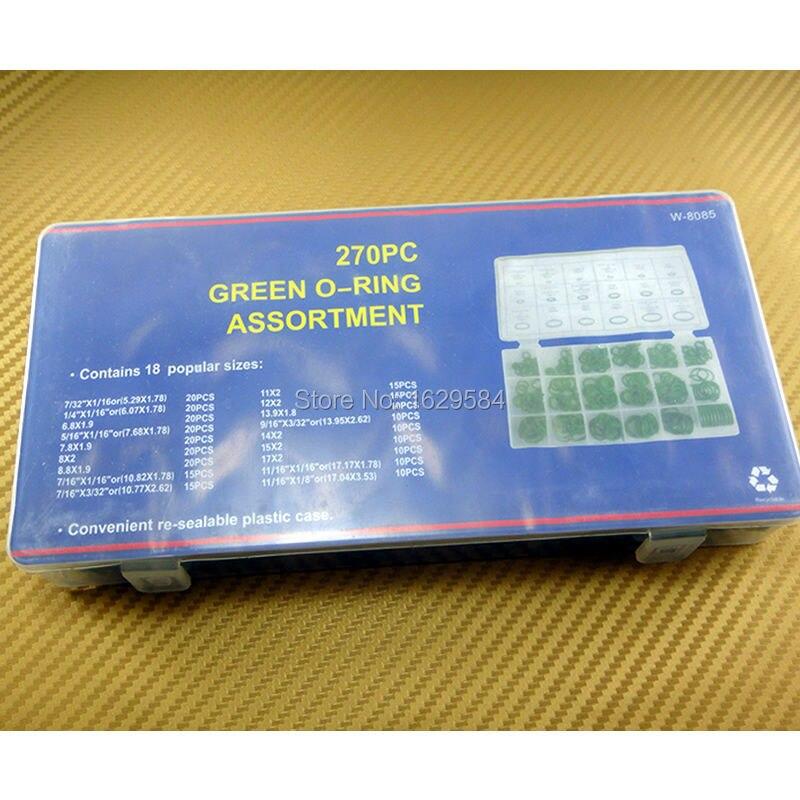 270PCS Assortment Car Air Conditioning HNBR A//C System O-Ring Seals Kit Tools
