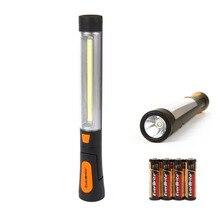 EVERBRITE COB LED Light Pivoting Work light Emergency Lights Portable Flashlight/Worklight 4AAA Batteries