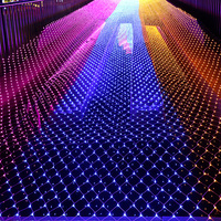 10MX1M 220V Outdoor Fairy Garden String Led Net Lights For Christmas Tree Park Hotel Street Holiday