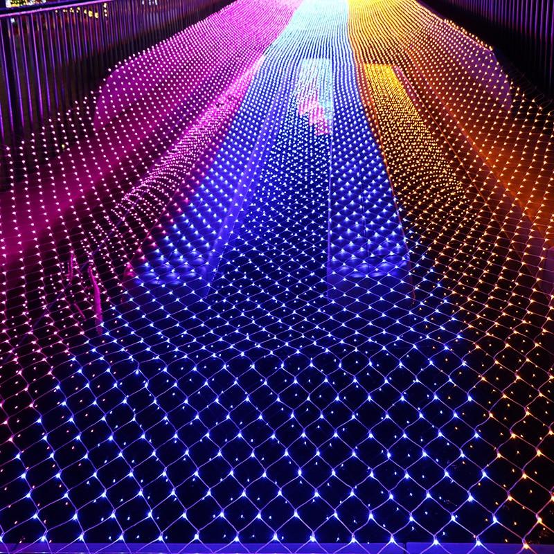 10MX1M 220V Outdoor fairy garden string Led net lights for christmas tree park hotel street holiday