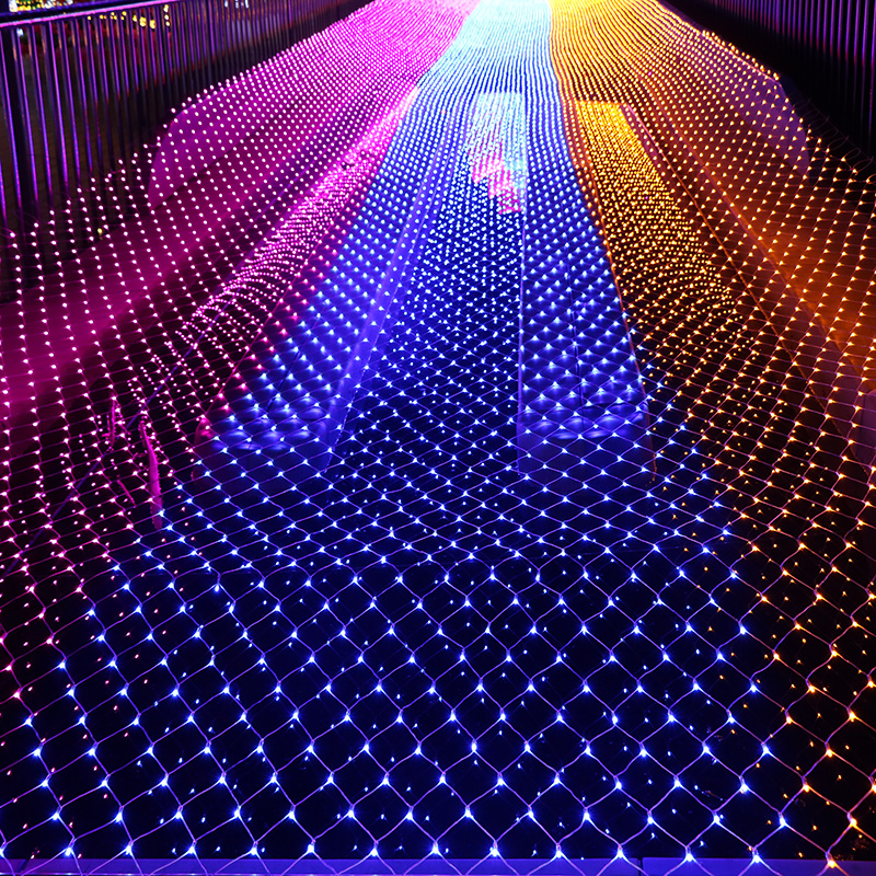 10MX1M 220V Outdoor fairy garden string Led net lights for christmas tree park hotel street holiday party wedding decoration