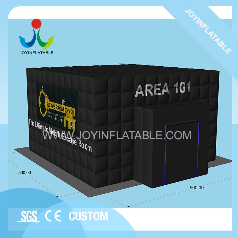 5x5m Commercial Use Room Escape Inflatable Black Tent For Outdoor Event 100% Guarantee