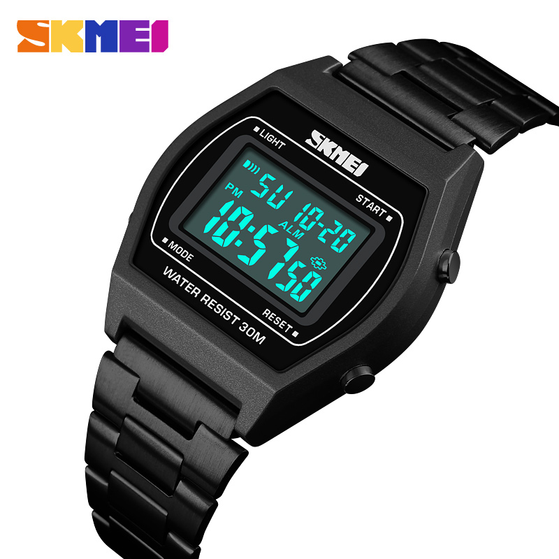 Top Brand Luxury SKMEI Mens Watches Famous LED Digital Watches For Male Clocks Watch Men Herren Uhren 2018