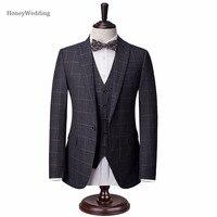 Latest Coat New Style Notch Lapel Groom Tuxedo Single Breasted Customizable Men Suits Wedding Best Man Jacket+Pants +Vest
