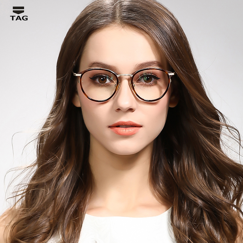 2017 new glasses frame men women Italian imports TAG designer limited edition retro light Computer myopia