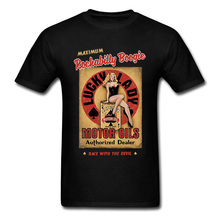 Punk T-shirt Rockabilly Boogie Tshirt Men Woman Retro Black T Shirt 80s Rock Roll Funky Streetwear Cotton Pin Up Girl Sexy Tops