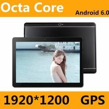 2017 Nueva 10 pulgadas Android 6.0 3G/4G Tabletas Octa Core RAM 4 GB ROM 64 GB Dual Tarjetas SIM 1920*1200 IPS HD de 10.1 pulgadas Tablet Pc