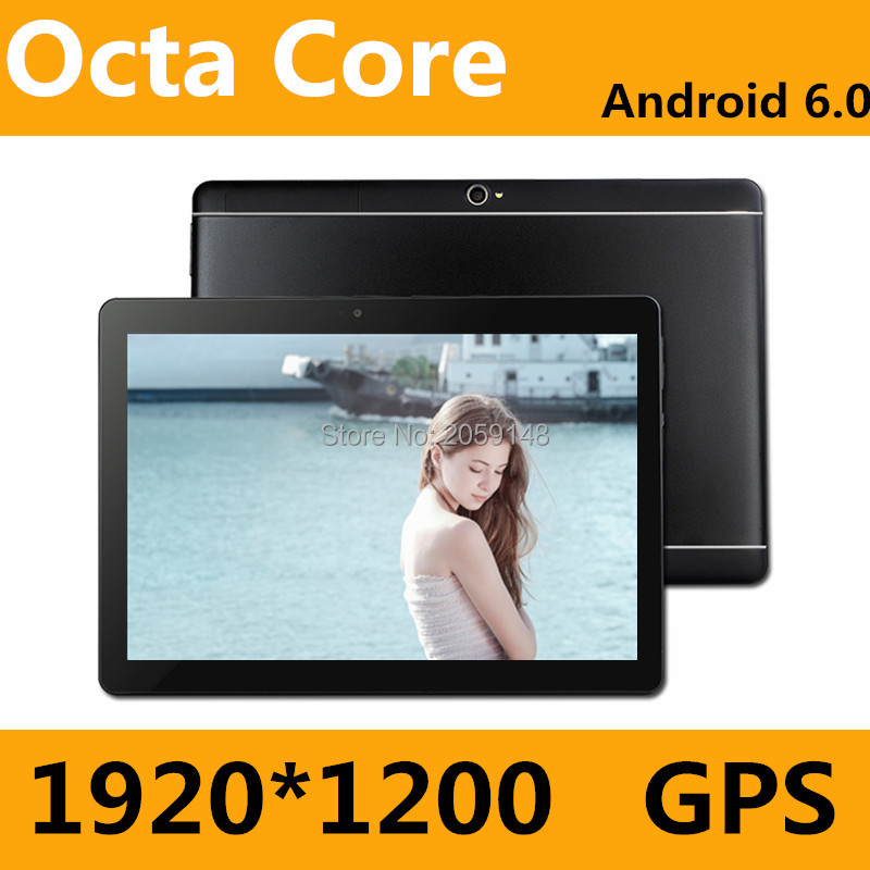 Nouveau 10 pouce Android 7.0 3g/4g Comprimés Octa Core RAM 4 gb ROM 64 gb Double cartes SIM 1920*1200 IPS HD 10.1 pouce Tablet PCs