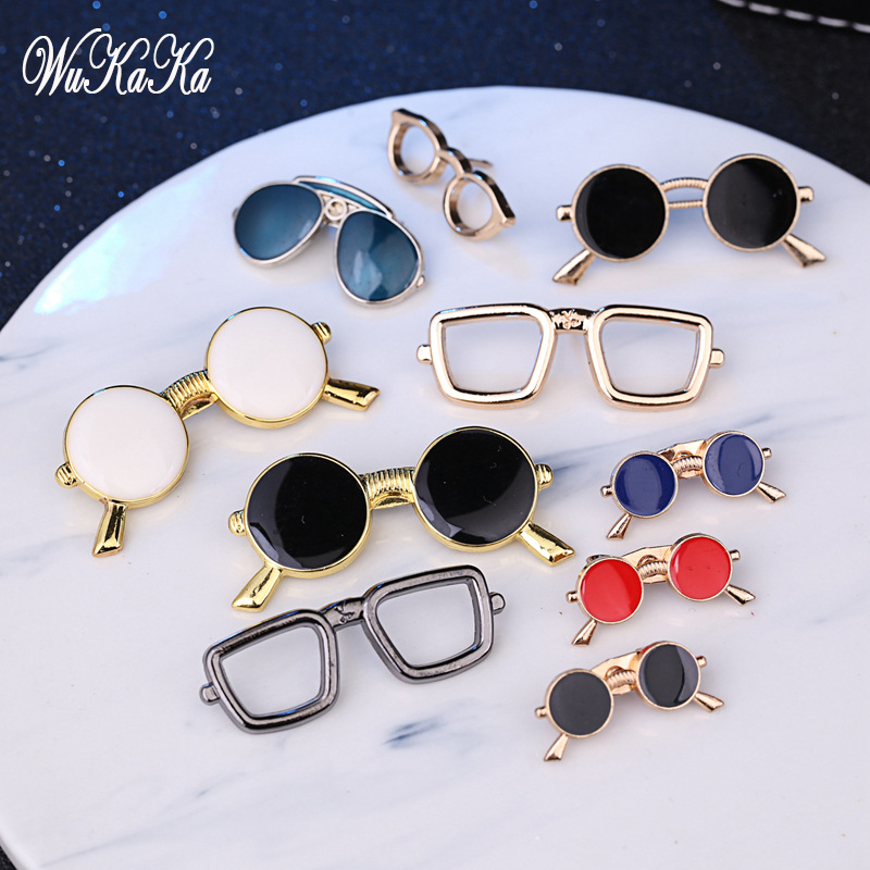 Fashion Enameal Pin Sunglasses Men Suit Brooch Pin For Man