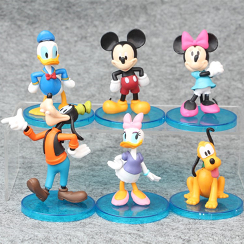 Disney Action-Figures Birthday-Toy Mickey Mouse Best-Gifts Duck-Minnie Hot-Sales Micro