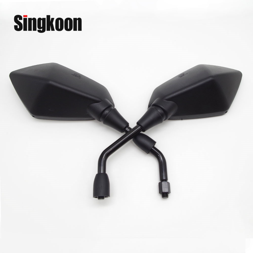 Universal 10mm Motorcycle Rearview Mirrors Black Scooter Moto Side Mirrors FOR honda shadow <font><b>yamaha</b></font> ybr <font><b>125</b></font> Suzuki gsr 600 <font><b>Nmax</b></font> image