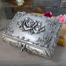 Metal European creative retro large jewelry box high-grade s