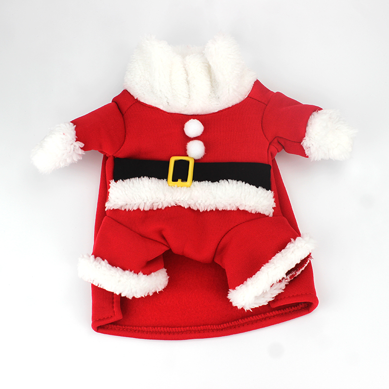 Christmas Cat Clothes Winter Pet Clothes For Cats Costume Suit Warm Cat Coats Jacket Santa Claus Christmas Pet Apparel 40
