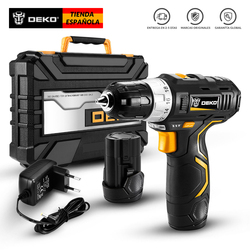 DEKO GCD12DU3 12V MAX Cordless Drill Electric Screwdriver Lithium-Ion Mini Power Driver Variable Speed with LED Light