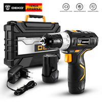 DEKO GCD12DU3 12V MAX Cordless Drill Electric Screwdriver Lithium Ion Mini Power Driver Variable Speed with LED Light